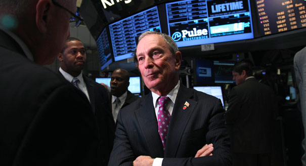 Michael Bloomberg Stock Splitting